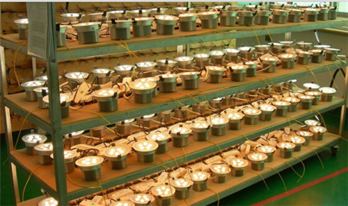 LED downlight aging room