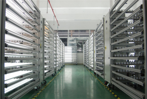 LED tube light aging room