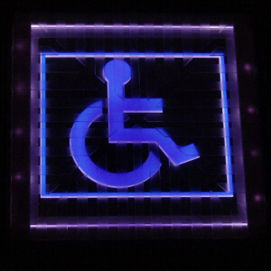 Solar LED Paver Light SPH-A00801 Disabled Mark